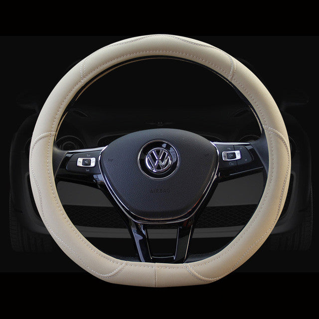 D Ring Car Steering Wheel Cover Leather For Volkswagen VW Golf 7 GTi
