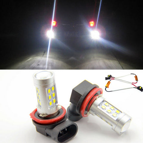 Free shipping, 2x H11 LED Projector Fog Light DRL 12W No Error For Audi A3 A4 A5 S5 A6 Q5 Q7 TT