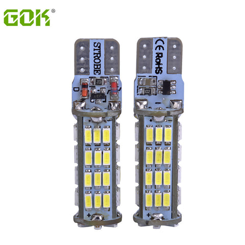 2PCS/LOT T10 led strobe high quality Strobe flash w5w LED 54smd t10 54led 3014 smd car led Light Bulbs wholesale free shipping