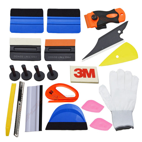 EHDIS Auto Car Window Tint Tools Kit Professional Vinyl Car Styling Tool 21Pcs Stickers Wrap Application Set Squeegee Hand Tool