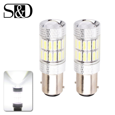 2pcs 1157 BAY15D P21/5W CANBUS OBC Fog Driving Tail Turn Reverse Brake No Error Free Super Bright LED Car Light Bulb Auto Lamp