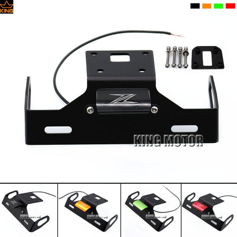 For KAWASAKI Z800 2013-2016 Motorcycle Accessories Tail Tidy Fender Eliminator Registration License Plate Holder LED Light Black