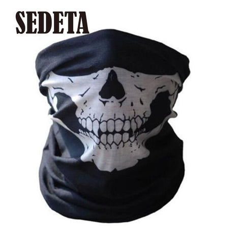 HOT Cool Tubular Skull Ghosts Ghost Mask Bandana Motor bike Sport Scarf Neck Warmer Winter Halloween For Motorcycle