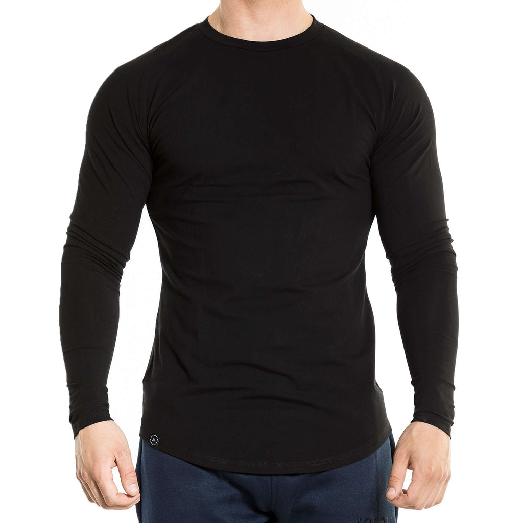 Fitted Long Sleeve - Black - Kyon Apparel