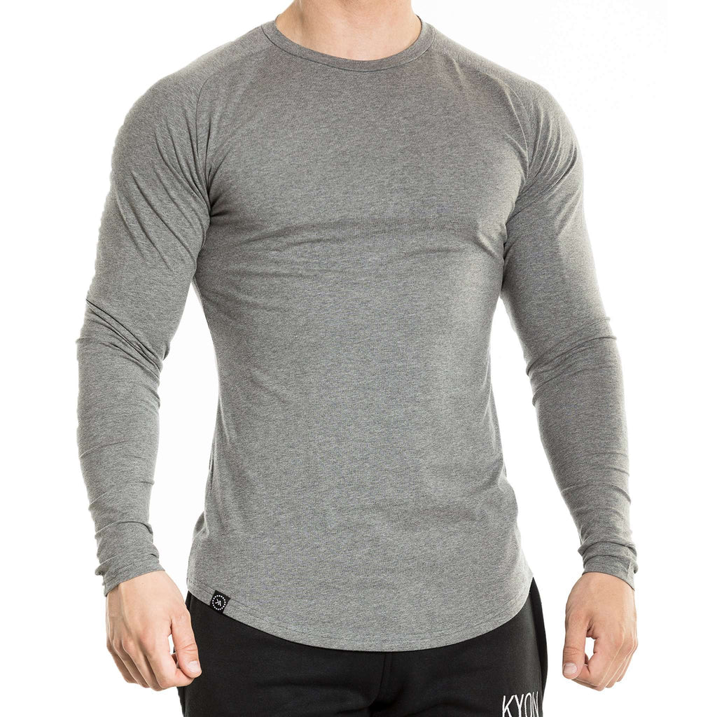Fitted Long Sleeve - Grey - Kyon Apparel