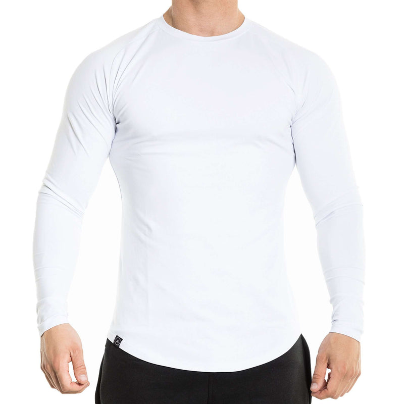 Fitted Long Sleeve - White - Kyon Apparel