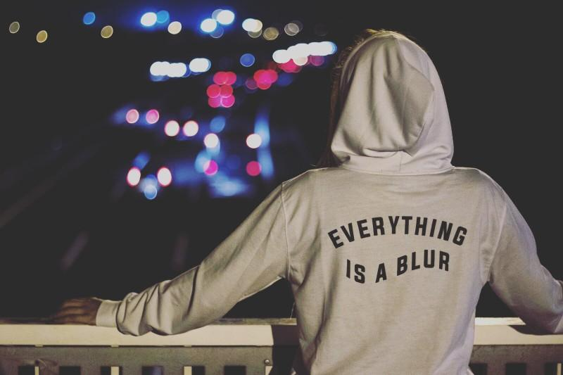 EVERYTHING IS A BLUR | AESTHETIC HOODIE