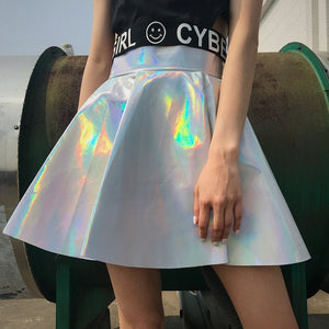 FLASHBULB HOLOGRAPHIC | HARAJUKU SKIRT