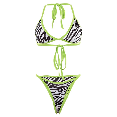 Neon Zebra Swimsuit