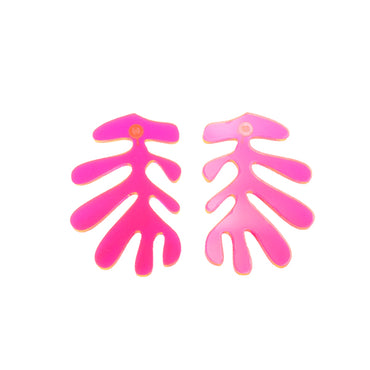 Acrylic Pink Matisse Earrings