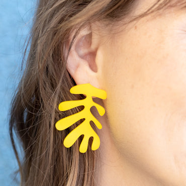 Acrylic Yellow Matisse Earrings