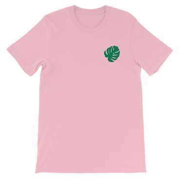 Embroidered Monstera Leaf T-Shirt