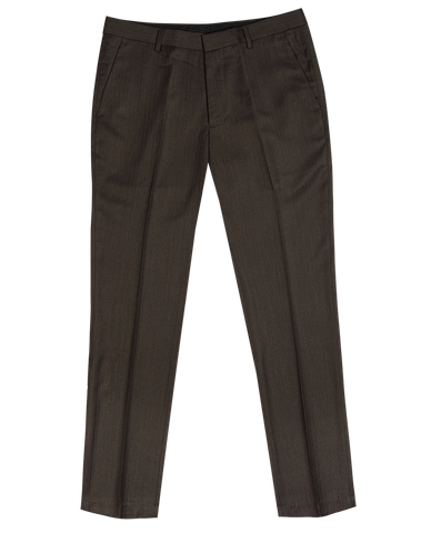 The Randolph Dress Pants In Brown Herringbone