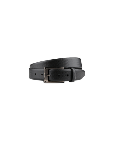 Men's Leather Dress Belt in Black