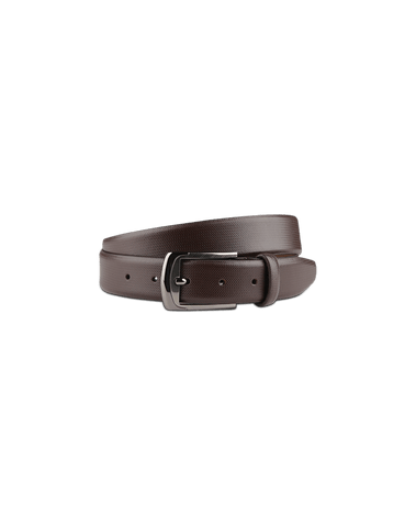 Men's Leather Dress Belt in Brown