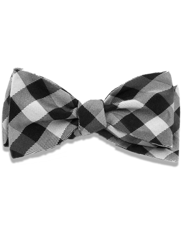 Men's Dress Bow Tie in Black Gingham