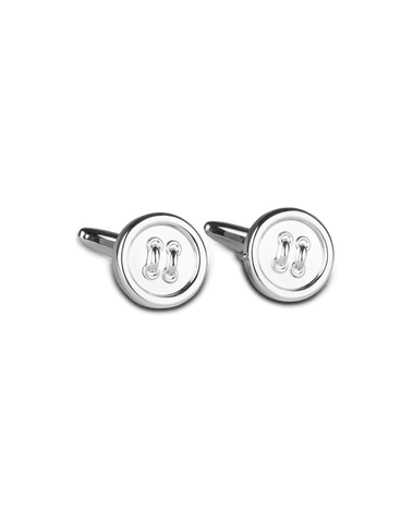 Men's Dress Shirt Cufflinks in Classic Buttons