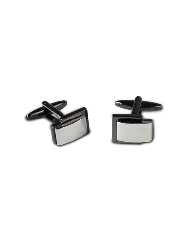 Men's Dress Shirt Cufflinks in Deep Grey