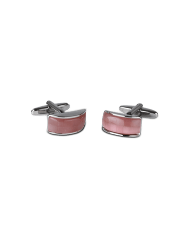 Men's Dress Shirt Cufflinks in Deep Pink Mother Of Pearl