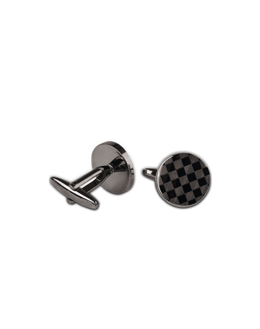 Men's Dress Shirt Cufflinks in Silver Grey