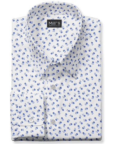 The Hyde Park Dress Shirt in Blue Birch Floral