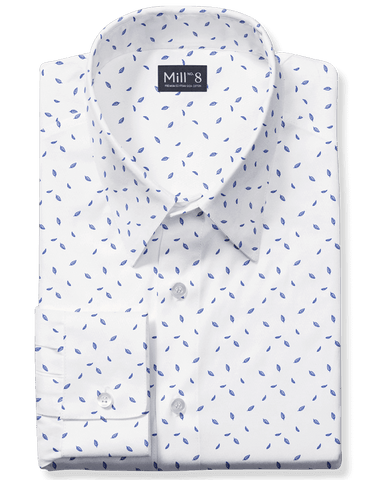 The Hyde Park Dress Shirt in Blue Desert Floral