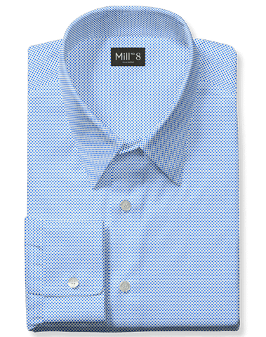 The Hyde Park Dress Shirt in Blue Hickory Drop