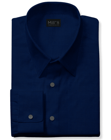 The Hyde Park Dress Shirt in Dark Blue Dobby