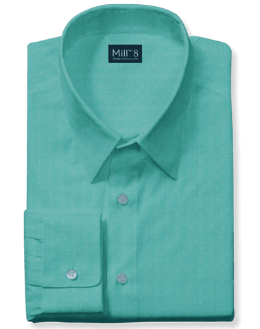 The Hyde Park Dress Shirt in Green Dobby