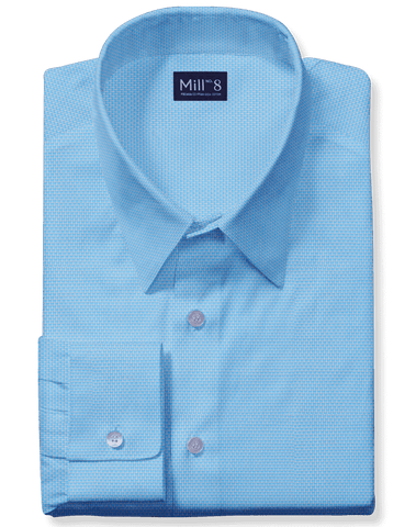 The Hyde Park Dress Shirt in Light Blue Dobby
