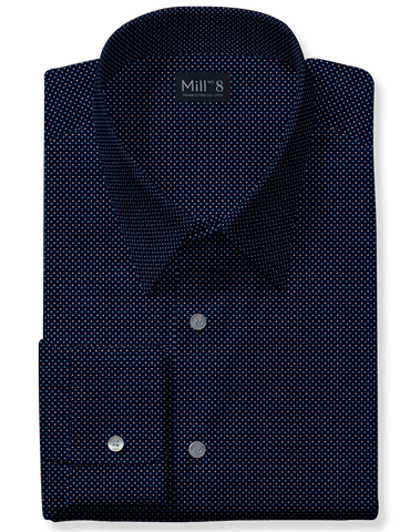 The Hyde Park Dress Shirt in Navy Ramona Square
