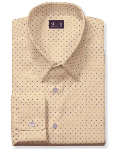 The Hyde Park Dress Shirt in Yellow Ridge Geo