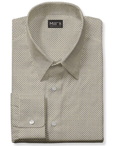 The Hyde Park Dress Shirt in Yellow Teton Geo