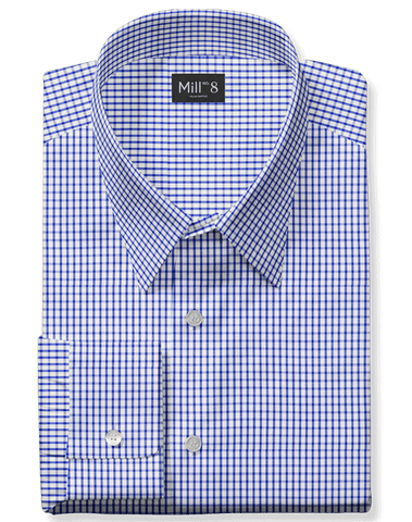 The Roosevelt Dress Shirt in Blue Gingham