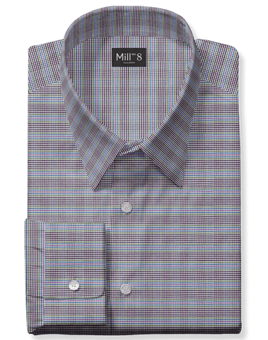 The Roosevelt Dress Shirt in Blue Purple Multi Check