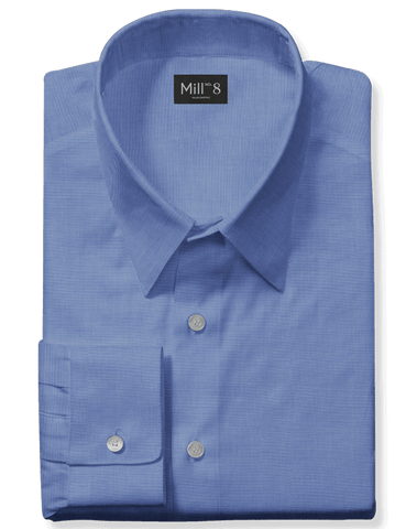 The Roosevelt Dress Shirt in Blue Solid