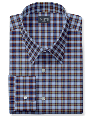The Roosevelt Dress Shirt in Brown Tartan Plaid