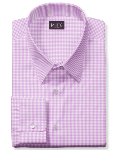The Roosevelt Dress Shirt in Classic Pink Gingham