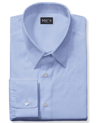 The Roosevelt Dress Shirt in Light Blue Houndstooth