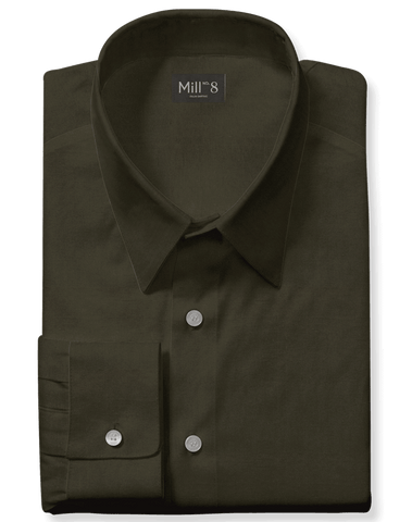 The Roosevelt Dress Shirt in Military Green