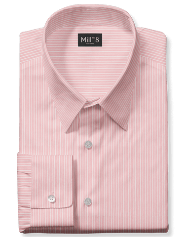 The Roosevelt Dress Shirt in Pink Stripe