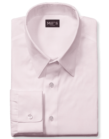 The Roosevelt Dress Shirt in Pink Twill