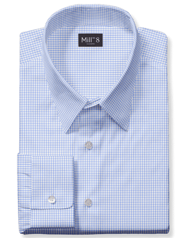 The Roosevelt Dress Shirt in Sky Blue Gingham