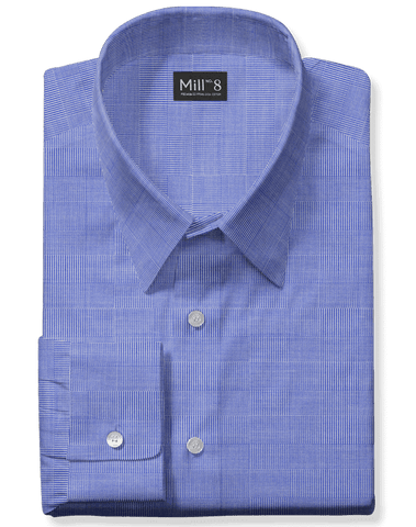 The Wabash Dress Shirt in Blue Glenplaid