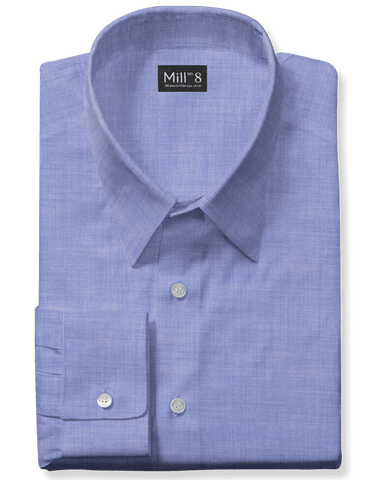 The Wabash Dress Shirt in Blue Herringbone