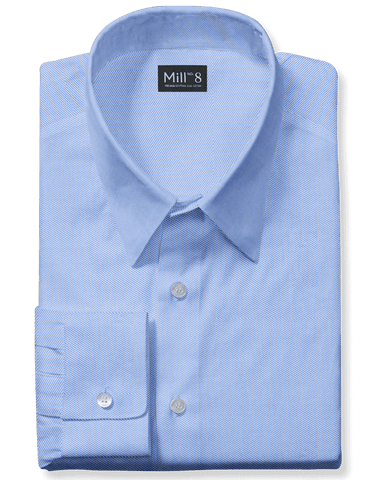 The Wabash Dress Shirt in Blue Holston Twill