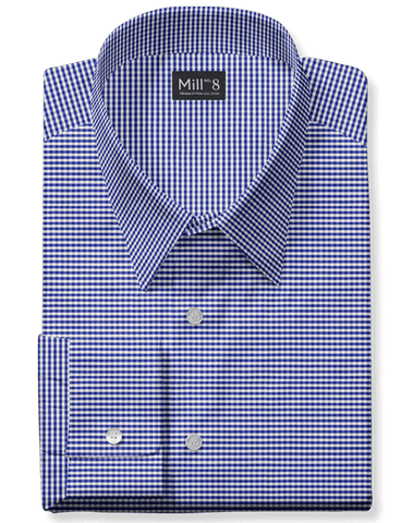 The Wabash Dress Shirt in Blue Micro Check