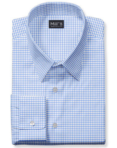 The Wabash Dress Shirt in Classic Blue Gingham