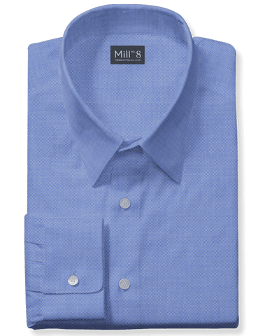 The Wabash Dress Shirt in Dark Blue Structured
