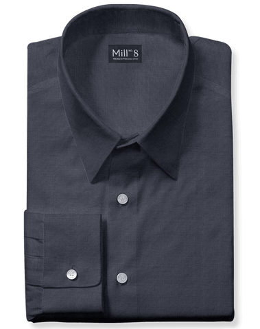 The Wabash Dress Shirt in Dark Grey